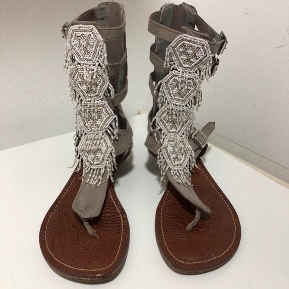 Carlos Santana Shoes - 🆕💎EUC BOHO Carlos S. beaded gladiator sandals